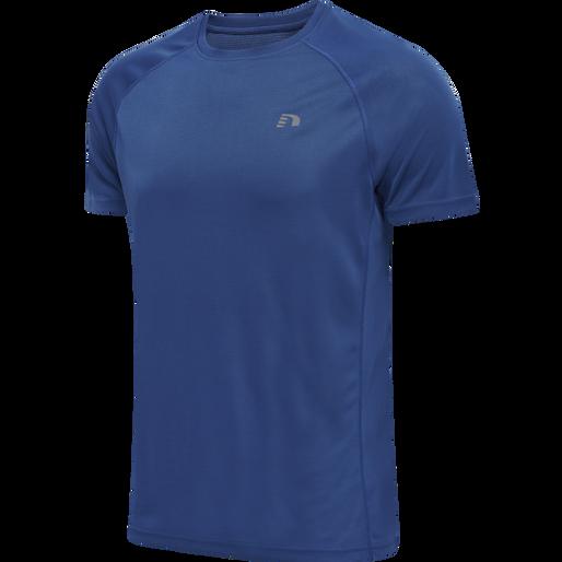 MEN CORE RUNNING T-SHIRT S/S, TRUE BLUE, packshot