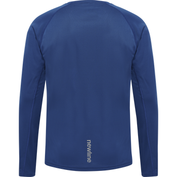 MEN CORE RUNNING T-SHIRT L/S, TRUE BLUE, packshot