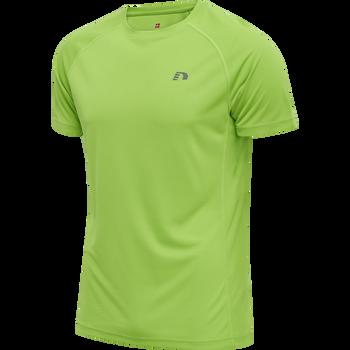 MEN CORE RUNNING T-SHIRT S/S, GREEN FLASH, packshot