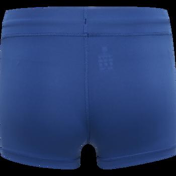 WOMEN CORE ATHLETIC HOTPANTS, TRUE BLUE, packshot