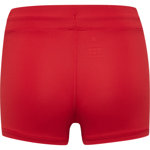 WOMEN CORE ATHLETIC HOTPANTS, TANGO RED, packshot