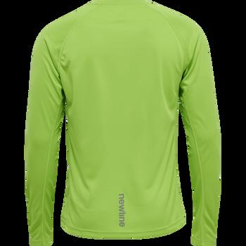 MEN CORE RUNNING T-SHIRT L/S, GREEN FLASH, packshot
