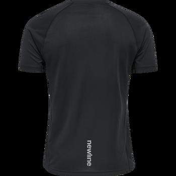 MEN CORE RUNNING T-SHIRT S/S, BLACK, packshot